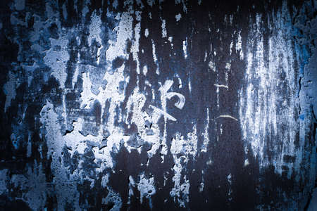dark blue, purple, lilac, texture. old rusty wall backgrounds. roughness and cracks. frame, vignette
