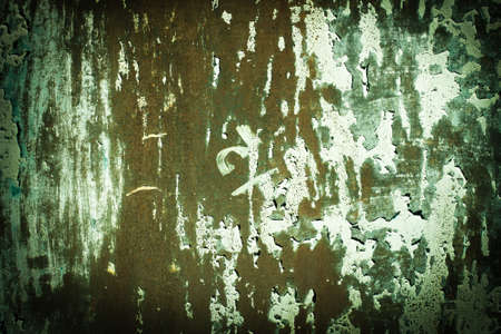 Green, celadon, orange, Green tide, rusty texture. old rusty wall backgrounds. roughness and cracks.