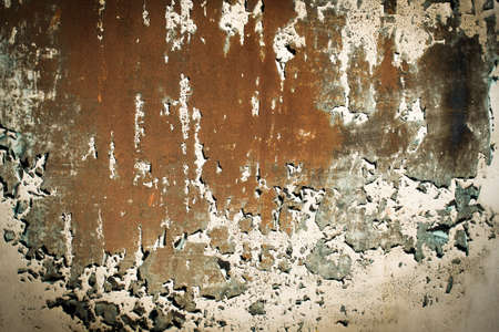 dark orange texture. old rusty wall backgrounds. roughness and cracks. frame, vignette Stockfoto