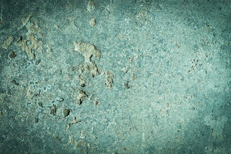 Green tide, celadon green concrete old wall. cement texture. scuffs and cracks. frame