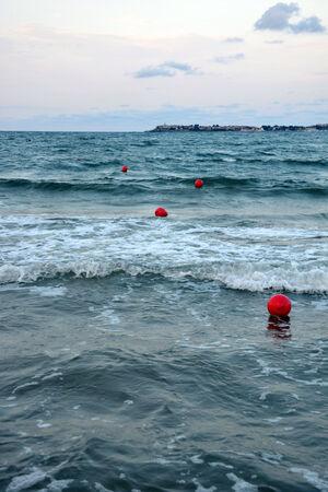 buoys: The buoys at sea