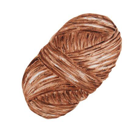 Watercolor Knitting and Crocheting , Wool Yarn Cute. Hand drawn balls of yarn for knitting