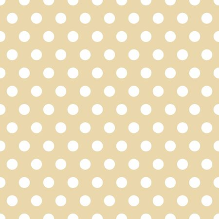 Seamless Background with Polka Dot pattern. Polka dot fabric. Retro pattern. Casual stylish white polka dot texture