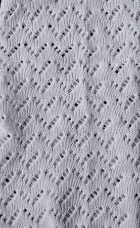 Abstract knitting fabric background. White texture background from merino knitted blanket, scandinavian minimalism backdrop with copy space, top view. Vertical concept Stock Photo