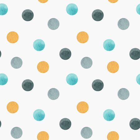 Polka dots Seamless pattern, dotted fabric texture colorful on white retro style background for kids blog, web design, scrapbooks, party or baby shower invitations and wedding cards