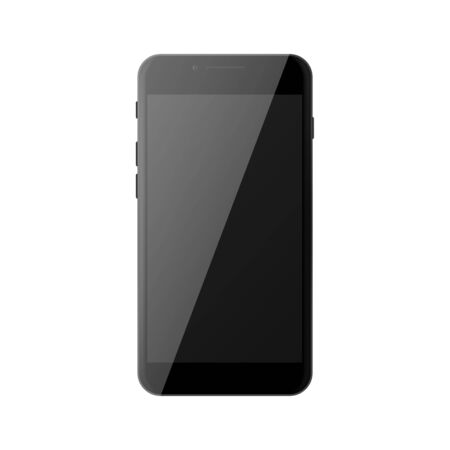 Black smartphone with black blank screen Фото со стока - 132111752