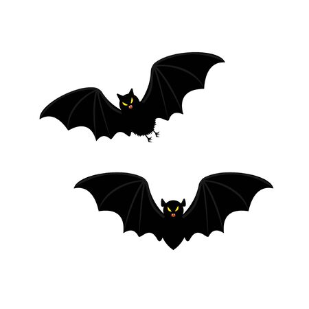 Set of Halloween bats. Иллюстрация