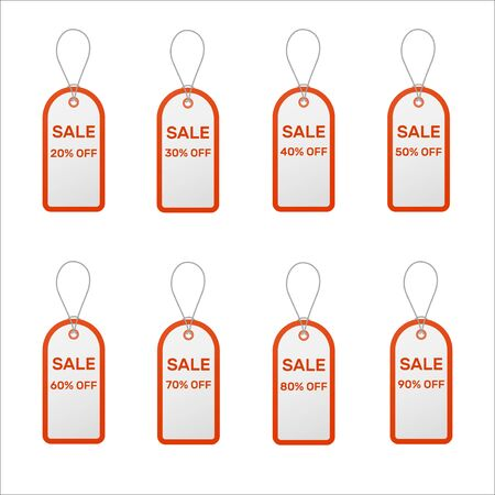 Set of sale tags Иллюстрация