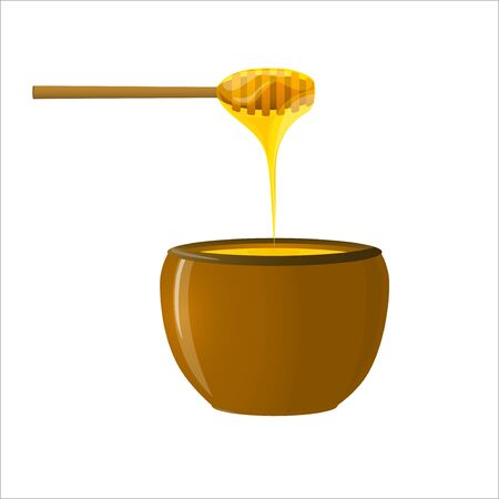 Honey pot and Honey Dipper