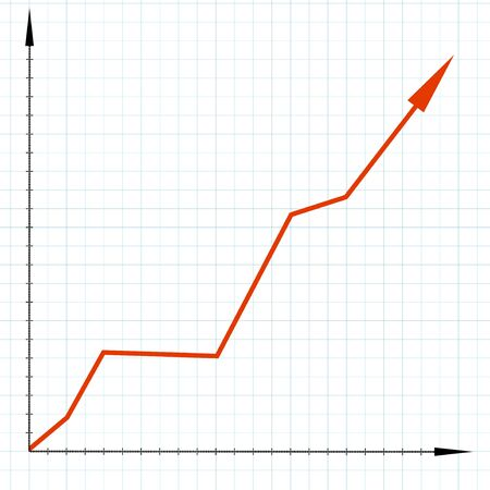 Ascending graph chart Фото со стока - 134003617