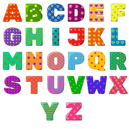 Colorful English alphabet