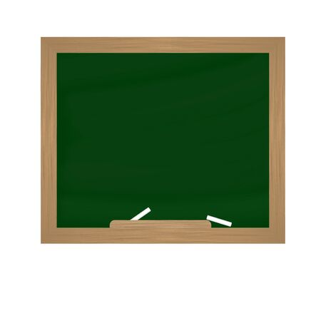 Chalk and blackboard on white background Иллюстрация