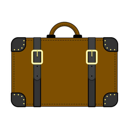 Cute brown suitcase