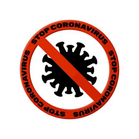 Stop- coronavirus.Sign the ban coronavirus