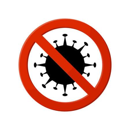 Stop coronavirus. Sign the ban coronavirus Иллюстрация