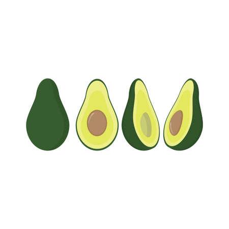 Avocado ripe Иллюстрация