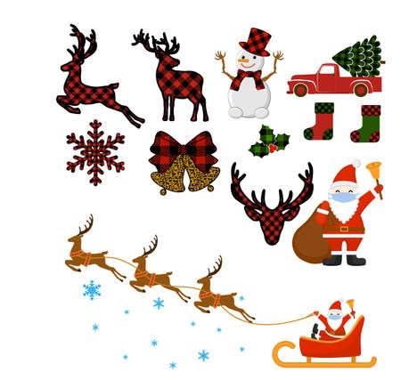 A set of Christmas elements Фото со стока