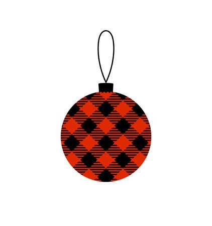 Buffalo plaid Christmas ball