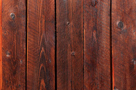 Natural wooden background from planks painted in walnut color, texture for photo design, for the production of photo backgrounds, banner for an advertisement or invitation, place for text
