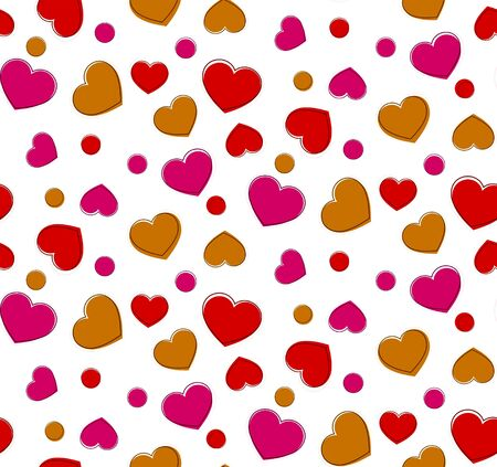 Heart seamless pattern. Vector