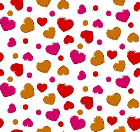 Heart seamless pattern.