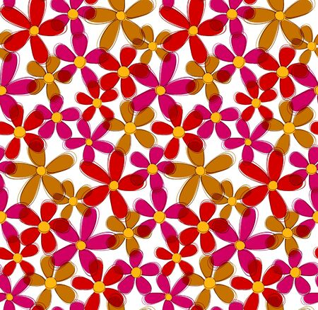 Flower seamless pattern.  Illustration