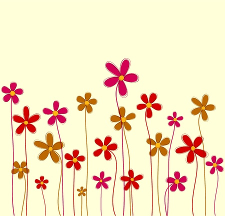 background of retro flowers  Wrapping pattern