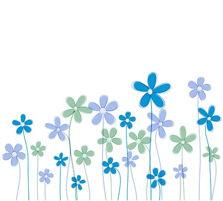 Vector background of retro flowers  Wrapping pattern  Eps10