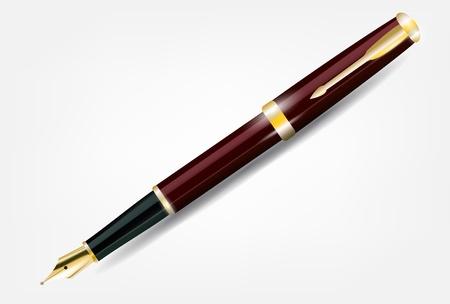 nib: Pen with gold nib. Vector eps 10