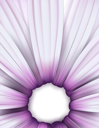 Crop of purple daisy. Detailed vector background. Eps10.  Illustration