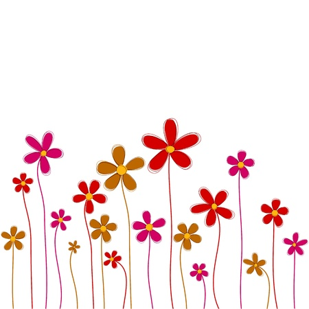 Vector background of retro flowers. Wrapping pattern. Eps10.