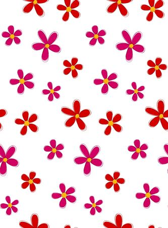 Flower seamless pattern. Vector wrap template. Eps10.