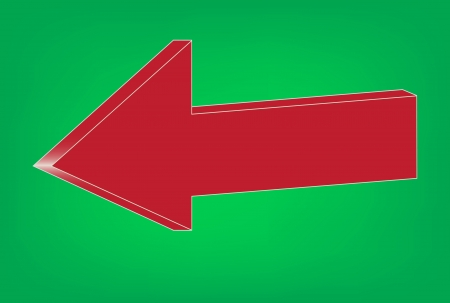 Red Arrow volume on a green background  Illustration