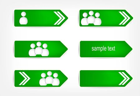 Green arrows of the paper.