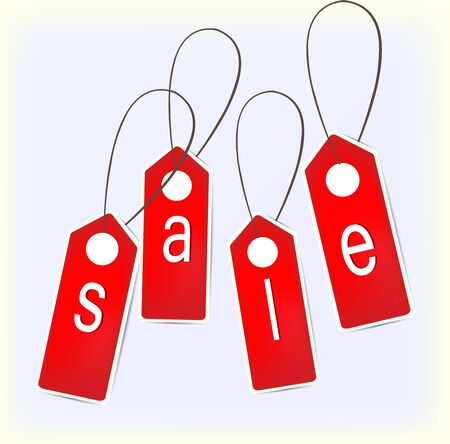 Red Signs. Sale.