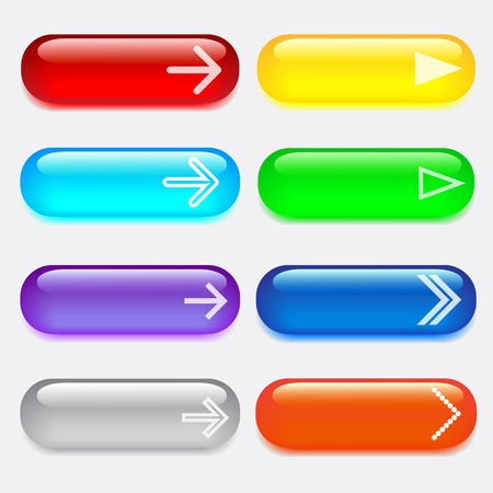 set glass colored buttons with arrows.