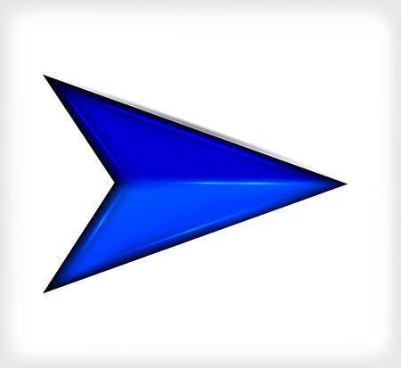 Blue short arrow.