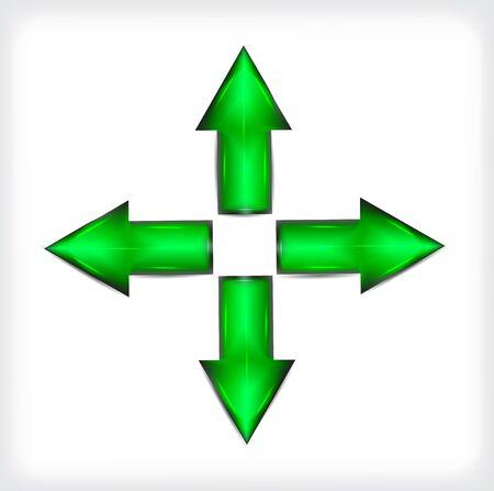 Plastic. Green arrows.  Illustration