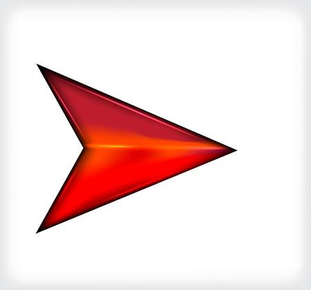 Red short arrow. Illustration