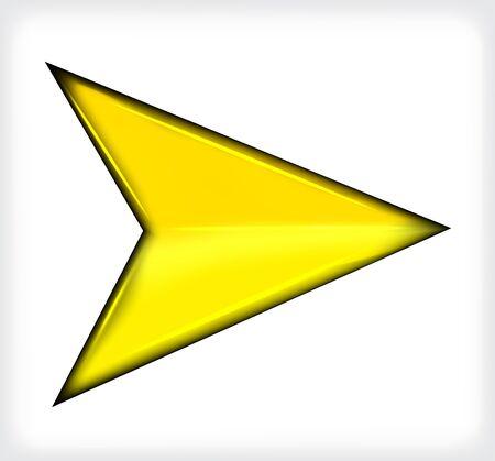 Yellow short arrow.  Illustration