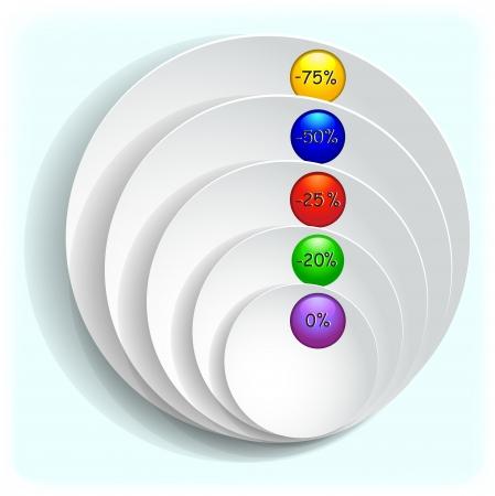 Multi-colored buttons diagram.