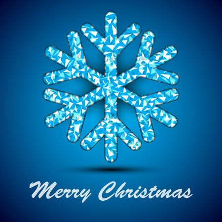 Single blue textured snowflake. Vector illustration. Eps10. Illustration