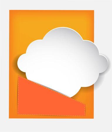 cloud paper in the pocket. Illustration