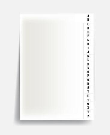 alphabet on paper.