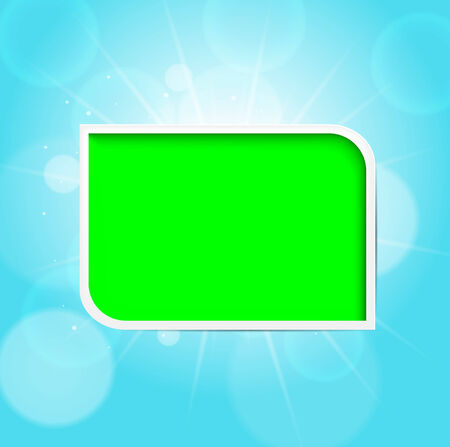 Green frame. summer background.