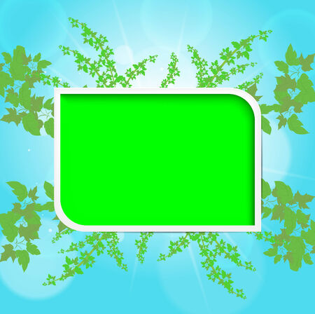 Summer background. Green space for text.