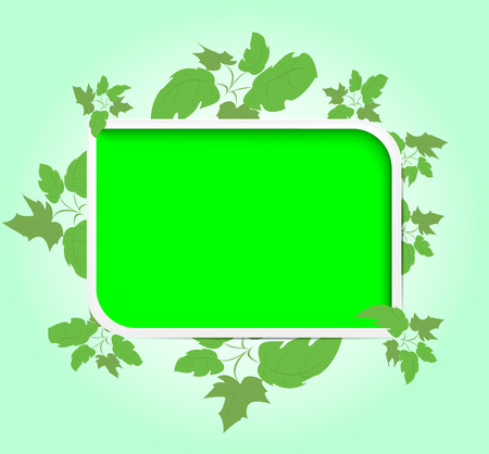 Green frame. Grass. brush.