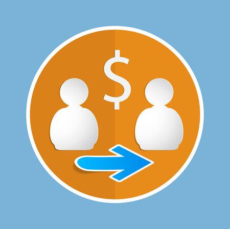 icon. money transfer.EPS 10. Vector