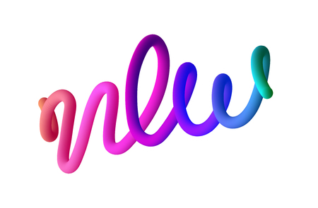 New. Spectrum lettering or sign isolated on white background. Vector template for poster, advertising design.