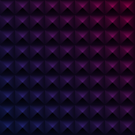 Purple spectrum texture with abstract 3d geometric pattern. Vector background.